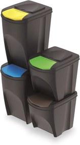 PlasticFuture Sada košů na třídění odpadu QUATRO 2x25L + 2x35L antracit