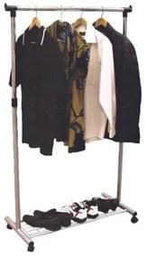 SIGNAL Nova II BIS pojazdný stojan na šaty čierna / chrómová