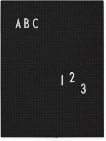 Design Letters Tabuľa Message Board A4, black
