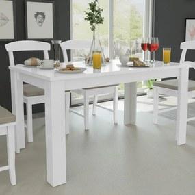 vidaXL Jedálenský stôl, 140x80x75 cm, biely