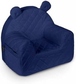 lovel.sk Detské dizajnové kreslo Mouse - Tmavo modré