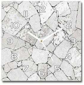 Sklenené hodiny štvorec Kamenná stena pl_zsk_30x30_f_77063653