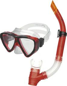 Spokey QUARIUS JUNIOR-Súprava okuliare + šnorchel červený