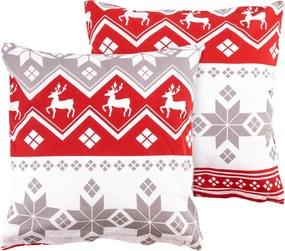 4Home Obliečka na vankúšik Red Nordic, 40 x 40 cm