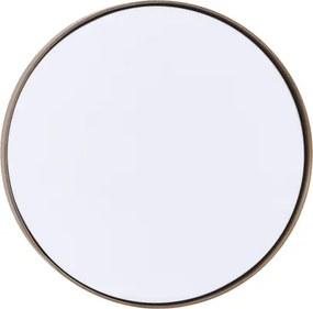 HOUSE DOCTOR Kruhové zrkadlo s mosadznou obrubou Reflection malé