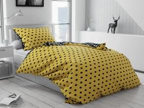 Bavlnené obliečky Colam žlté