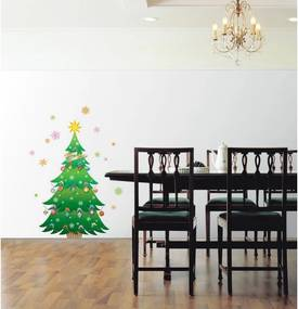 Vianočná samolepka Ambiance Christmas Tree and Stars