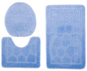 Kúpeľňové predložky 1147 modré 3 ks, Velikosti 50x80cm