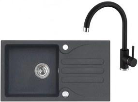 ALVEUS Set GALAPAGOS 30 drez 770x430 mm + batéria TONIA, čierna