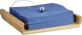 Bambusový držiak na servítky s ťažítkom 49198845a60
