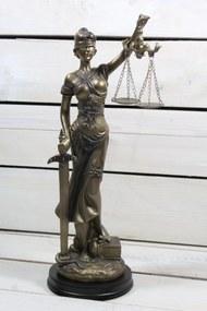 Socha spravodlivosti JUSTÍCIA (v. 33 cm) vzor 930 - staré zlato