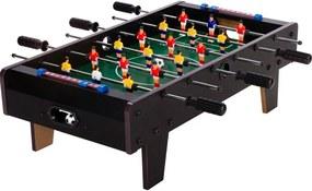 Mini stolný futbal s nožičkami 70 x 37 x 25 cm - čierny