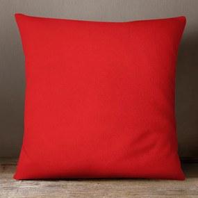 Goldea bavlnená obliečka na vankúš - červená 70 x 90 cm