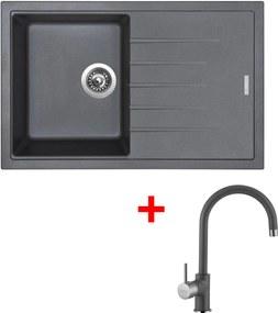 Akčný set Sinks drez BEST 780 + batéria VITALIA Titanium