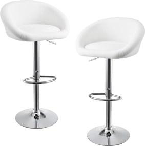 [en.casa]® Sada barových stoličiek HTBS-3710 - 2 ks - biele