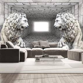 Fototapeta kamenné levy - Stone Lions