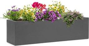 Blumfeldt Solidflor, kvetináč, 75 x 20 x 20 cm, sklolaminát, do interiéru aj exteriéru, tmavosivá farba