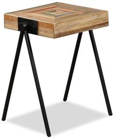 vidaXL Príručný stolík, recyklované teakové drevo
