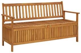vidaXL Záhradná úložná lavica 148 cm, akáciový masív