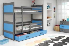 Poschodová posteľ RICO 2 - 190x80 - Grafitový - Blankytný