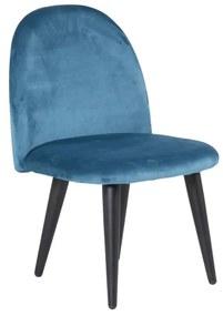 Velvet detská stolička modrá