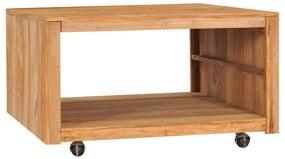 vidaXL Konferenčný stolík 80x80x40 cm masívne teakové drevo