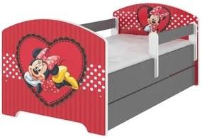 MAXMAX Detská posteľ Disney - zamilovaná MINNIE 140x70 cm