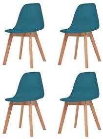 vidaXL Jedálenské stoličky, 4 ks, tyrkysové