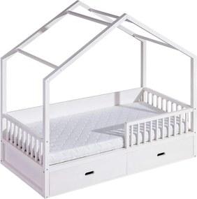DL Detská posteľ domček 200x90 Farba: Biela