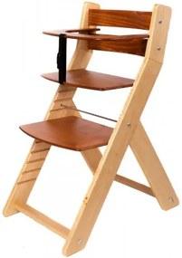 WOOD PARTNER Rastúca stolička UNIZO - mahagón