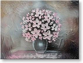 Ručne maľovaný obraz na stenu KVETY 1 dielny YOBAM019E1