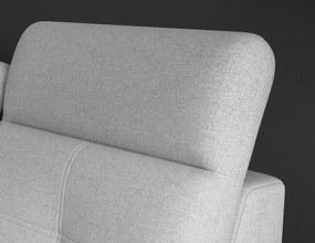 Rohová sedacia súprava Candy OT-2F, svetlo šedá látka