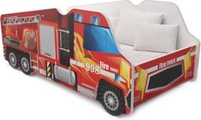 GL Posteľ pre chlapca 140x70  - Požiarne auto
