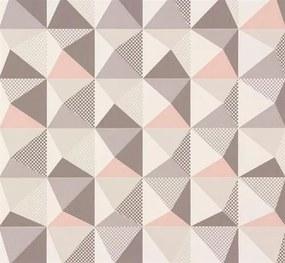 Vliesové tapety, kaleidoskop ružovo-sivý, NENA 57242, MARBURG, rozmer 10,05 m x 0,53 m