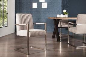 Konzolová stolička Boss s podrúčkami, sivá