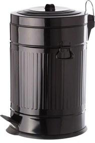 Čierny pedálový kovový odpadkový kôš Unimasa, 20 l