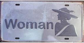 Ceduľa značka Woman Toilet