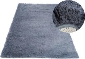MAXMAX Plyšový koberec TOP - ŠEDÝ