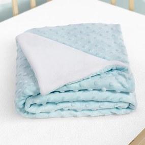 Goldea detská deka minky - svetlo modrá - 75x100 cm 75 x 100 cm