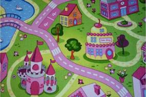 MAXMAX Detský koberec SWEET CITY multicolor