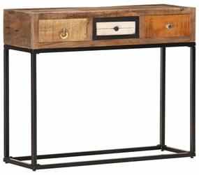 vidaXL Konzolový stolík zlatý 90x30x75 cm masívne recyklované drevo