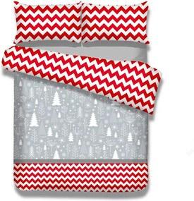 Predĺžené flanelové obliečky na dvojlôžko AmeliaHome Christmas Mess, 200 × 220 cm + 70 x 80 cm