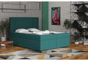 Americká posteľ 120x200 CARA - modrozelená