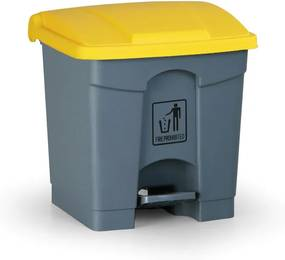 Pedálový viacúčelový kôš 30 litrov, žltá