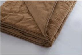 Hnedá deka z merino vlny Royal Dream Brownie, 160 × 200 cm