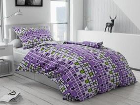 Bavlnené obliečky Tetris fialové