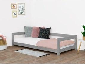 Sivá detská posteľ zo smrekového dreva Benlemi Study, 120 x 200 cm