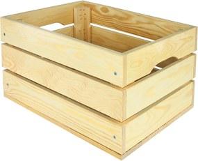 Drevená debnička SD-3-40x30 farebné varianty Povrchová úprava: Bez povrchovej úpravy