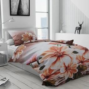 Obliečky 3D Kvet ružové
