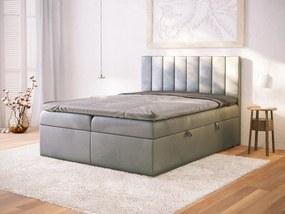 PROXIMA.store - Kontinentálna posteľ VIGO - tmavosivá - 120/140/160/180 Veľkosť postele: Pre matrac 120 x 200 cm